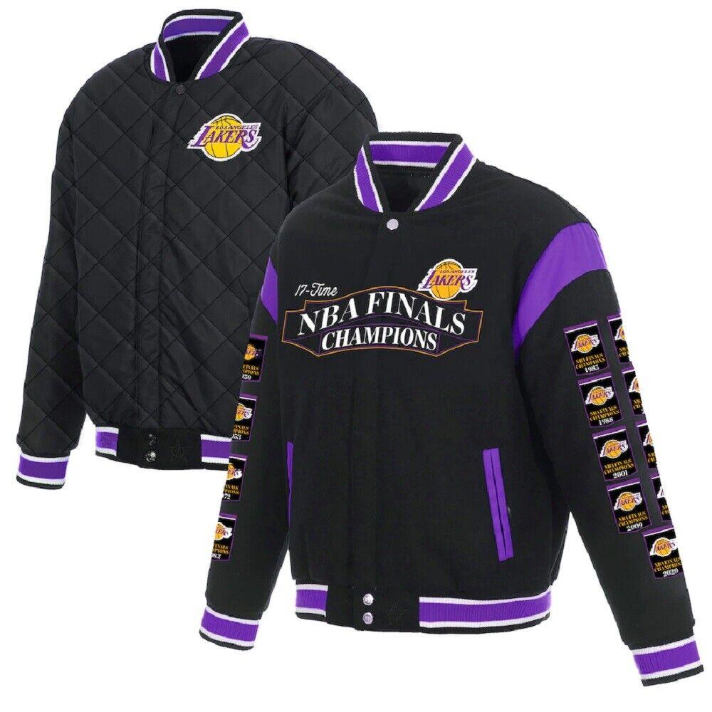 Lakers Medium Reversible Jacket Nba Los Angeles La Basketball Jh Design For Sale Online Ebay