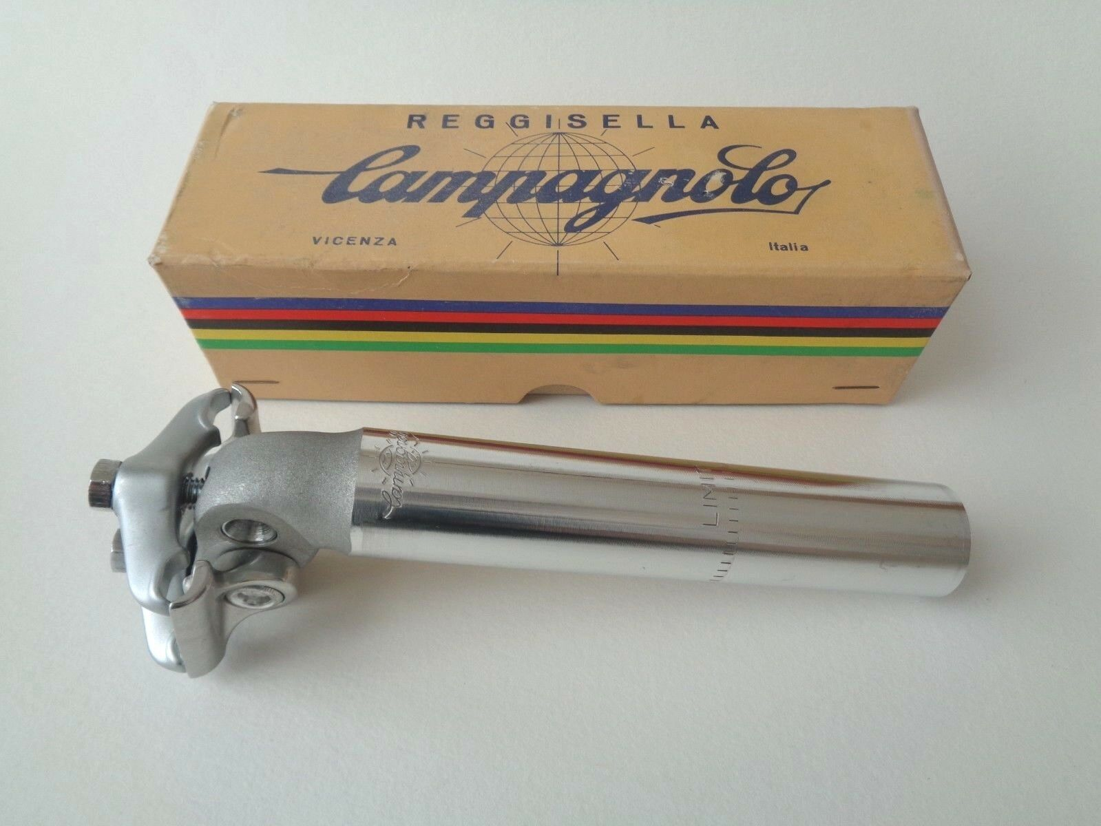 Rare NOS Vintage 1980s Campagnolo Nuovo Record short alloy seatpost 26.8mm