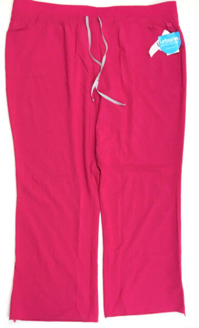 3d758af3325 Urbane Performance Women's Wide Waistband Convertible Scrub Pants, Fuchsia,  ...