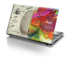 Brain Laptop Decal- Laptop Skin- Size-14.1 -15.6 inch Laptop back skin printed