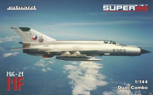 Eduard Plastic Kits 4434-1:144 MF//MiG-21 in Czechoslovak service DUAL COMBO,