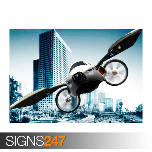 Car Poster Photo Poster Print Art * All Sizes 0405 YEE CONCEPT FLYING CAR