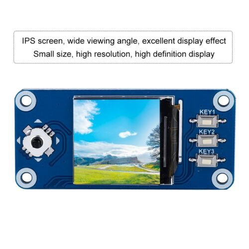 1.3 IPS Screen LCD Display HAT W/Button for Raspberry Pi Zero W/WH/2B/3B/3B+ GM