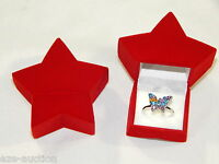 High Quality Red Star Velvet Gift Box Ring Or Earrings Or Small Necklace