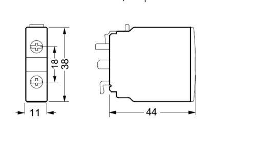 Auxiliary contact 1NO Siemens 3RH1921-1CA10 6A front mount SCHRACK LSZ0D010