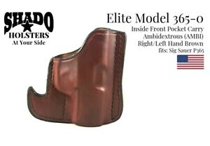 SHADO-Leather-Holster-USA-Elite-Model-365-0-AMBI-Pocket-Holster-Brown-Sig-Sauer