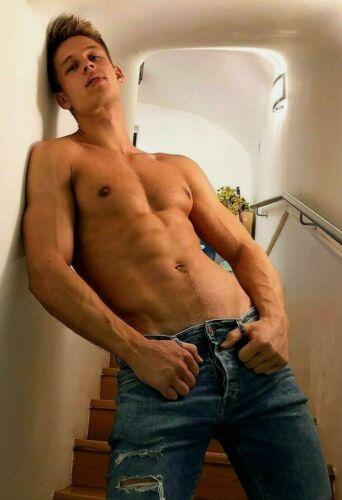 Shirtless Male Muscular Hunk Jock Gay Interest Beefcake Man Guy PHOTO 4X6 F2072