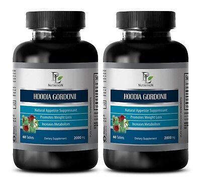 Weight Loss Supplement Hoodia Gordonii 2000mg 2 Bottles