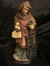 "St Saint San Lorenzo Hand Carved Painted Figurine Statue 6"""