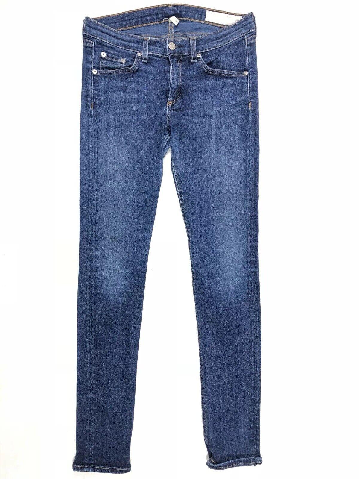 Rag And Bone Women's bluee Skinny Jeans Size 27x30