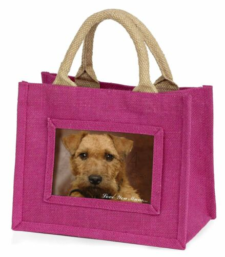 Lakeland Terrier Dog 'Love You Mum' Little Girls Small Pink Shoppi, ADLT2lymBMP