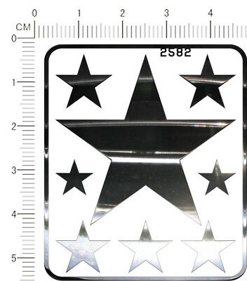Silver 2471 metal chrome decals Five Star for different scales model kits
