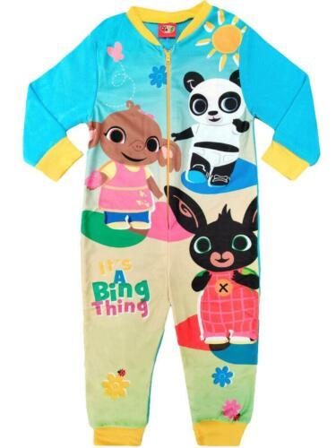 Filles Bing All in One pyjama Glissière Sleepwear de détente Nightwear