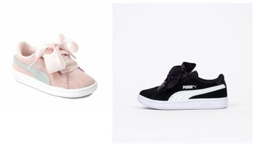 Puma Smash Ac Due Disponibili 366004 Ribbon Sneakers Bambina Scarpe Colori V2 AgwdAq