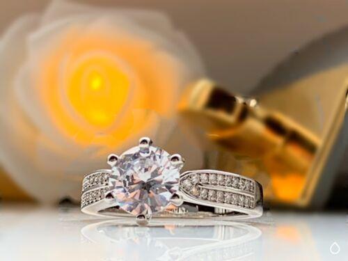 Restposten Schmuck 10x Damen Ring versilbert Zirkonia Diamant Schmuck