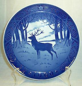Royal Copenhagen Christmas Plates.Royal Copenhagen Christmas Plate 1960 The Stag