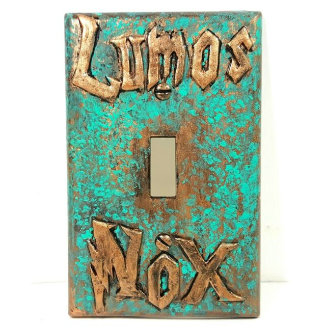 Aged Copper//Patina or Stone Lumos//Nox Harry Potter Light Switch Cover
