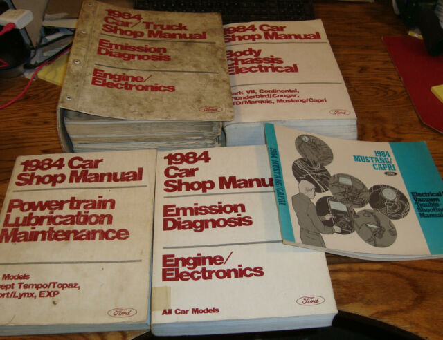 1984 Ford Mustang Shop Service Manual   Wiring Diagrams   More Lot Of 5