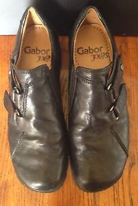 the latest 2fb89 4b267 Details about Gabor Jollys Woman's European Walking Shoes Leather High  Quality Size 37 US 6