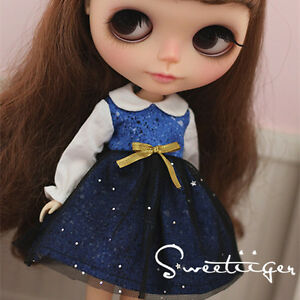 """【Tii】cute dress outfit 12/"""" 1//6 doll Blythe//Pullip//azone Clothes Handmade girl"""