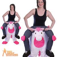 Adult Piggyback Unicorn Costume Funny Animal Fancy Dress Outfit