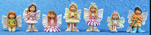 Ceramic Bisque Ready to Paint 7 Assorted Fairies Great addition to Fairy Gardens