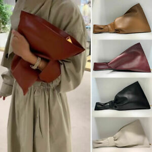 Real-Leather-Knotted-Handle-Twist-Wristlet-Clutch-Sack-Tote-Bag-Bracelet-Purse