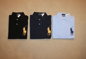 NEW-Polo-Ralph-Lauren-Slim-Custom-Fit-Big-Pony-Shirt