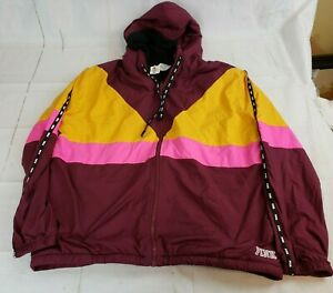 New-Tags-Victorias-Secret-Sherpa-Lined-Anorak-Full-Zip-Jacket-M-L-Burgundy-VS2