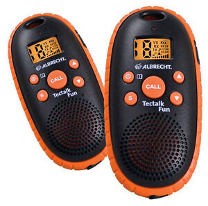 Radios-Albrecht-Tectalk-Fun-Orange-Set-Radio-Mobile-Phone-Walkie-Talkies-B-Ware