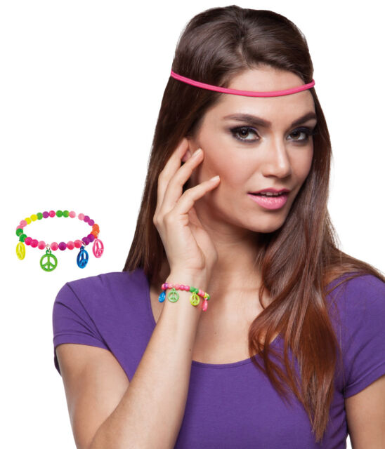Hippie Peace Armband NEU - Zubehör Accessoire Karneval Fasching