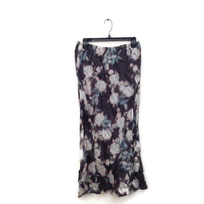 Bryn Walker Bias Skirt M Multi color green Floral Print Taffeta Long Maxi  240