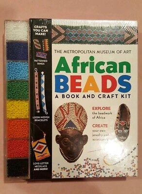 DiplomáTico Mma Art Book African Craft Kit Beads New Sealed Promover La ProduccióN De Fluidos Corporales Y Saliva