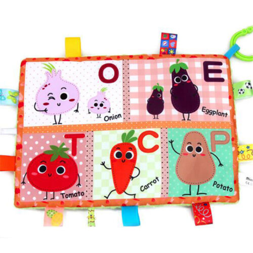 Newborn Cot Bumper Soft Cloth Book Infant Educational Hanging Cloth Book Toy N7