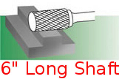 SC-3 L6 Long Cylindrical w// Radius End Carbide Bur Rotary File burr die grinder