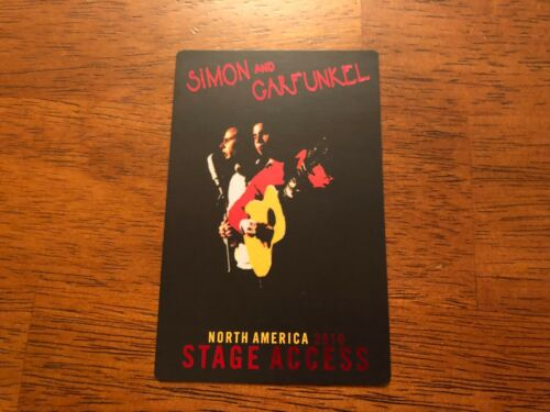 North America 2010 Stage Pass Simon /& Garfunkel Black