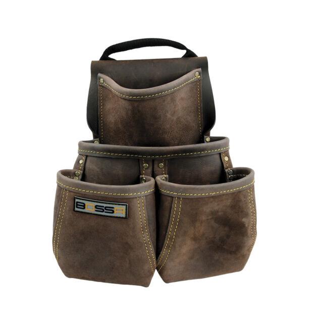BOSSA 23736 4-Pocket Heavy-Duty Component Nail and Tool Bag