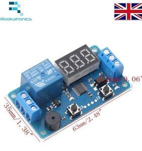 Nuovo-12VDC-Ritardo-Timer-Interruttore-Modulo-Rele-Con-LED-Display-Digitale