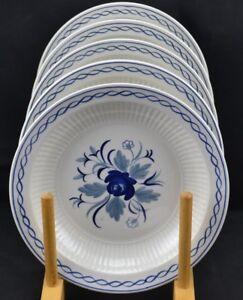 Adams Baltic Blue Roses Ironstone Recent Mark Set 6 Bread Plate Ebay