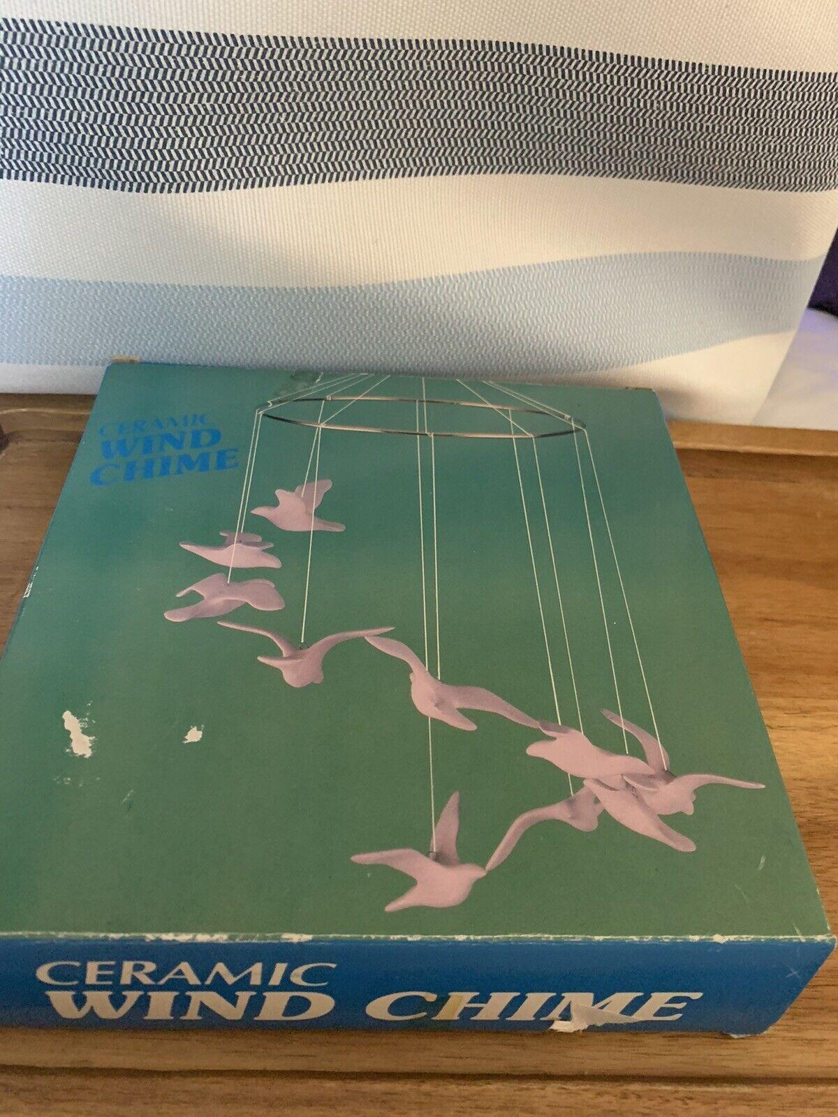 ceramic birds wind chime/ mobile