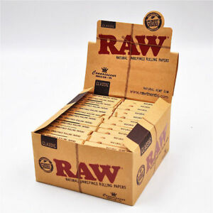 24-RAW-Classic-Connoisseur-King-Size-Slim-Rolling-Papers-amp-Tips-Full-Box
