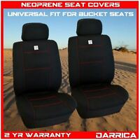 Neoprene Car Seat Covers Universal Fit Front Pair Waterproof Black And Red