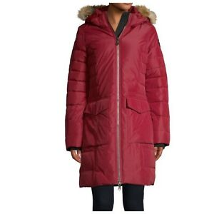 Pajar Canada S Parka Layla Fox Fur Trim Down Quilted Coat Red Small NEW $600