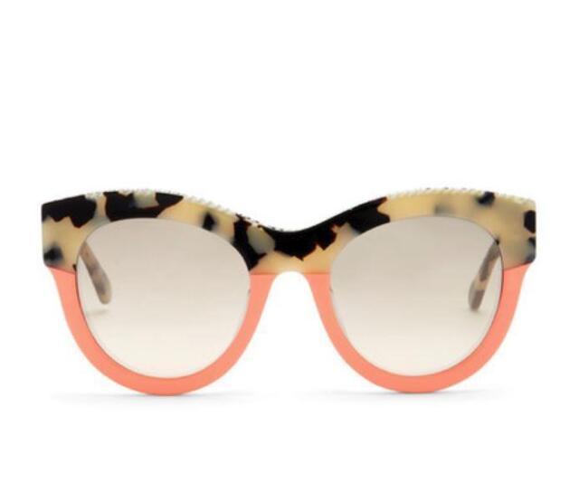 87cff8c556d Stella McCartney Chain Brow Sunglasses BLK-GRY HAVANA PINK Grey SC0018SA-2  NEW