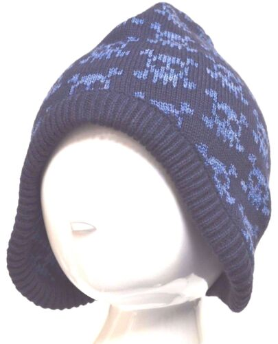 John Lewis Garçons Tricot Bonnet Crâne /& Crossbones Bleu S//MTaille 4-8 ans