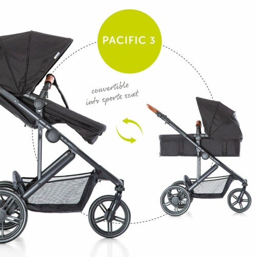 Caviar Babyschale Hauck Kombi Kinderwagen Buggy Set 2in1 Pacific 3 inkl