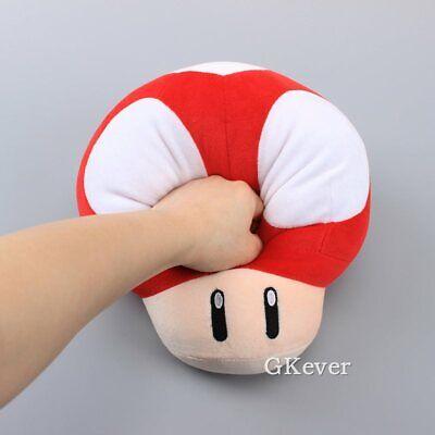 10pcs Super Mario Bros Mushroom 7cm Stuffed Plush Doll Toy Red