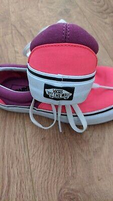 Vans size 6 Pink And Purple women girls
