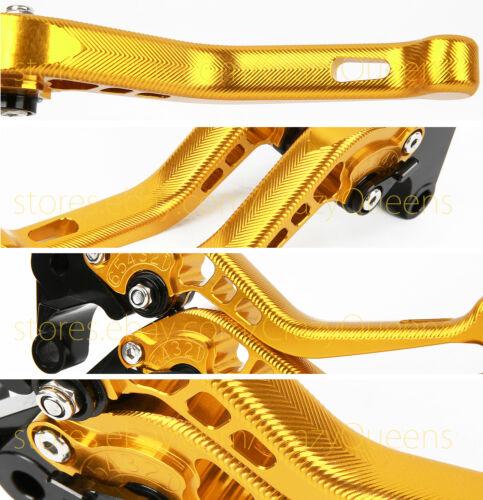 CNC Brake Clutch Levers Pair For Suzuki GSXR1000 2007-2008 Short//Long Adjustable