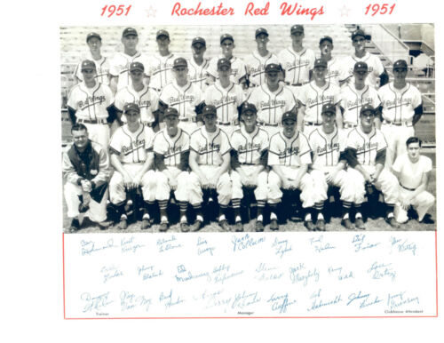 1951 ROCHESTER RED WINGS TEAM 8X10 PHOTO  BASEBALL BILKO NEW YORK